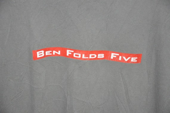 Band T Shirt Rock Alternative 90s Tour Ben Vintage Concert Folds Five xAYzpPT