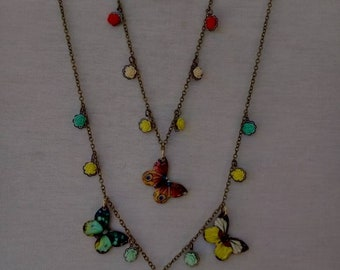 Butterfly Necklace and Anklet