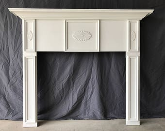 Primed Fireplace Mantel White 1005A