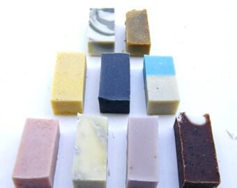 Three Mini Soap Bars, Mini Soaps, Mini Soap Bars, Soap Samples, Guest Soaps, Soap Favors, Gift Bundles, Sample Set, Soap Sampler