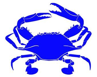 Blueclaw Crab fishing vinyl diecut decal car truck window laptop fishing crab