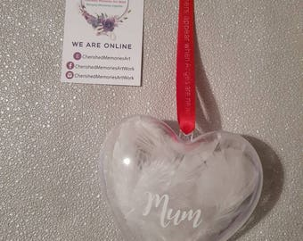 Personalised heart baubles for all