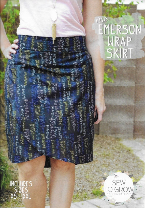 Wrap Skirt Pattern Sewing pattern Skirts Pattern The