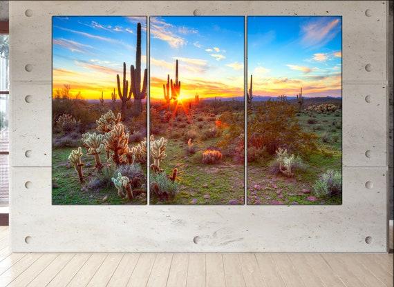 Sonoran Desert  canvas Sonoran Desert wall decoration Sonoran Desert canvas art Sonoran Desert large canvas  wall decor