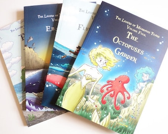 The Legend so far - Volumes One to  Four of The Legend of Mermaids Tears - full colour children's book.