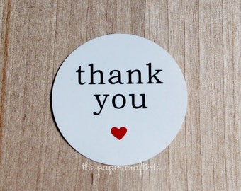 60 x White Thank You Heart Stickers Labels Seals Wedding Party Favours