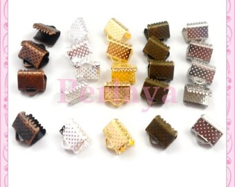 Mixed 250 claws 8mm gold - bronze - silver - matte - copper REF094