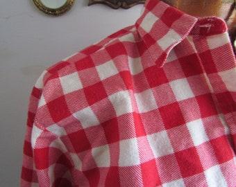 Vintage Red Cream Check US Shirt Co Flannel