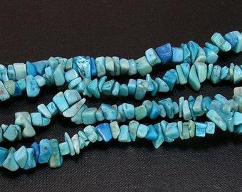 36 inch erose Arizona Turquoise beads-6964