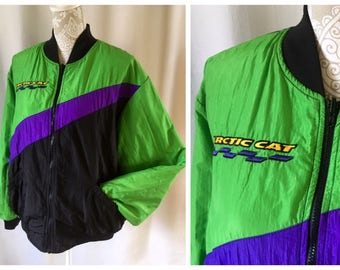 1980'-early 90's Arctic Cat Arcticwear snowmobile coat | Women's extra large