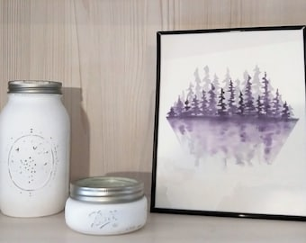 Reflective Purple Pines