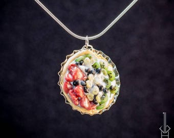 Miniature Fruit Tart Necklace