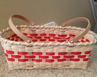 Double D Market Basket Red Handwoven