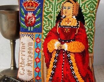Catherine of Aragon Mini Cushion Cross Stitch Kit