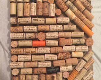 Wine bottle cork board