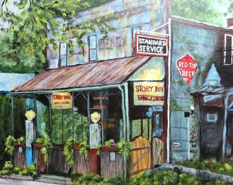 "Fine Art 8 X 10 Print of my Original Painting ""The Story Inn"""