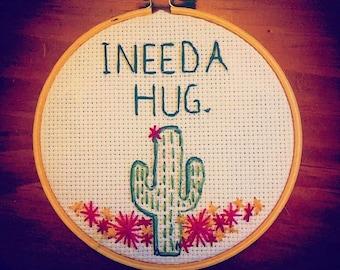 Cactus Hug Embroidery