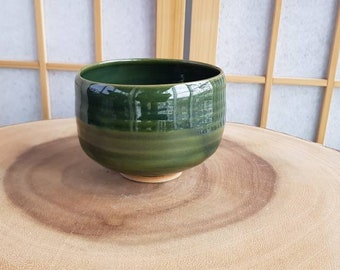 Green chawan, teabowl for the Japanese tea ceremony