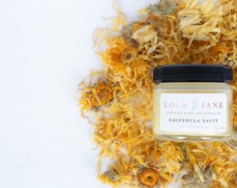 Calendula Salve, Herbal Salve, All Natural, healing ointment, multi-purpose 2 oz