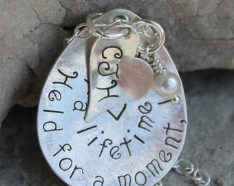 BABY REMEMBRANCE Necklace Held for a Moment, Loved for a Lifetime