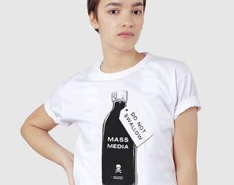 Mass Media Propaganda Funny Political T-shirt