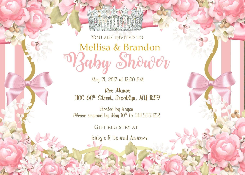 Little Princess Baby Shower Invitation, Ballerina Baby Shower ...