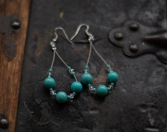 READY TO SHIP | Handmade Turquoise Earrings