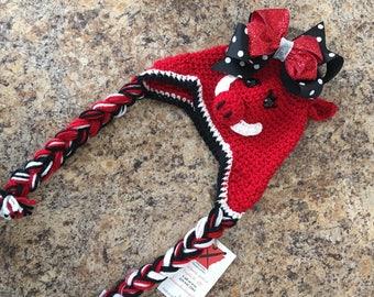 Razorback Hog Crochet Hat Baby, Kids, or Adults