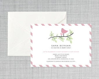 Nesting bird baby shower invitation PRINTABLE