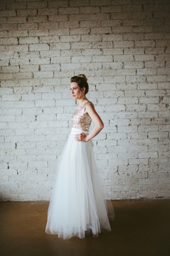 Gold Sequin Cap Sleeve Floor Length Tulle Gown Dreams Do
