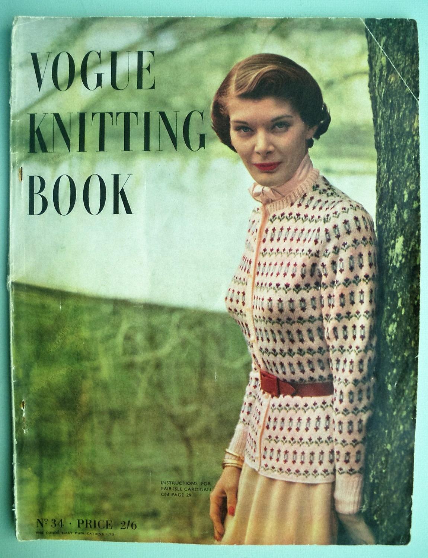 Vogue Knitting Book 1940s Vintage Patterns - No. 34 1949 - 40s ...