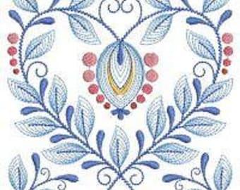 Twelve Baltimore Album embroidered quilt blocks