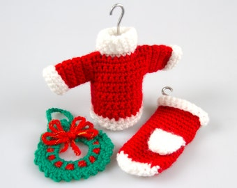 Amigurumi Christmas Free Patterns : Christmas crochet wreath crochet pattern crochet wreath brooch