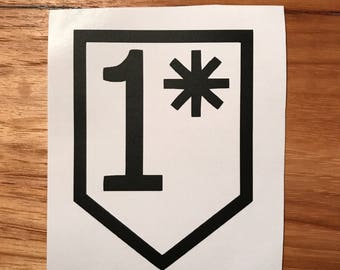 1 Asterisk (1*) Decal