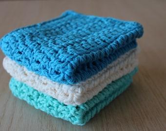 Crochet Dishcloth Set, Crochet Dishcloths, Cotton Dishcloths, Crochet Washcloths, Dish Cloth, Crochet Dish Rags, Housewarming Gift