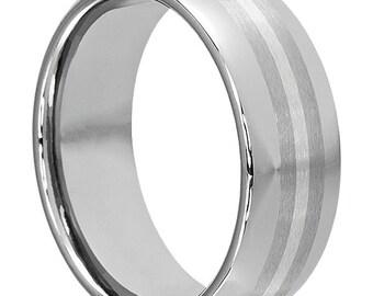 Mens platinum ring Etsy