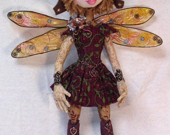 NH703E – Cecily, A Steampunk Dragonfly Cloth Doll Pattern