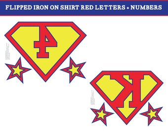 Printable super hero iron on shirt + super hero birthday banner for a superhero birthday party - PDF INSTANT DOWNLOAD