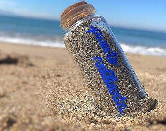 Personalized Sand Keepsake Bottle | FREE SHIPPING