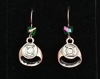 Green Lantern Earrings