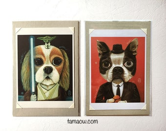 Patches and Boogie. Postcard Size Art Prints.