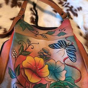Amazing vintage painted purse