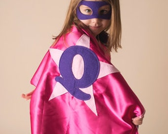 Personalized, CUSTOMIZED, Double Sided with MASK  Superhero Party CAPES for Kids