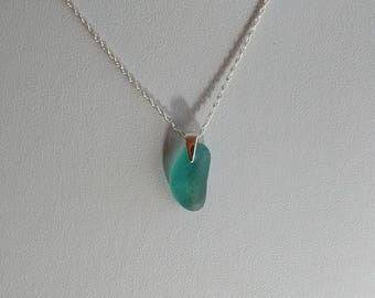 turquoise sea glass necklace