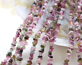 Multicolor Tourmaline Chip Beads