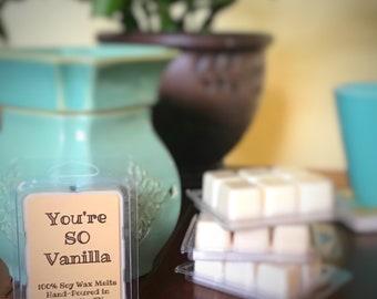 Vanilla Soy Wax Melts // You're so Vanilla // 100% Soy Wax // Vanilla Wax Tarts // Vanilla Lover // Gift Idea // Gift for Her // Home Decor
