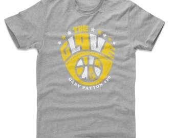 Gary Payton Men's Cotton T-shirt - Seattle Throwbacks Gary Payton Glove Y Wht