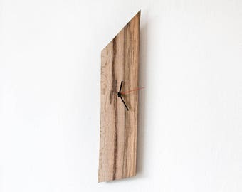 Large Wood Wall Clock / Rectangular Unique Clock ANATOL