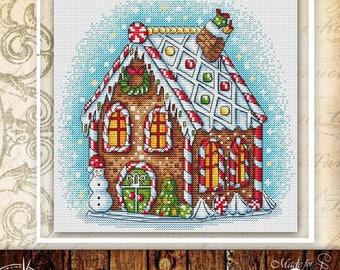 Christmas Cross Stitch Pattern PDF counted embroidery pattern christmas ornaments cross stitch chart modern room wall decor DIY pattern