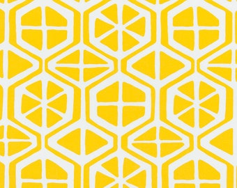 Outdoor or Indoor Lemon Citrus Yellow Fabric by the Yard Designer Craft Drapery, Curtain, or Upholstery Fabric Easy Care Kitchen Fabric S140